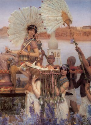 Sir Lawrence Alma-Tadema - The Finding of Moses [detail]