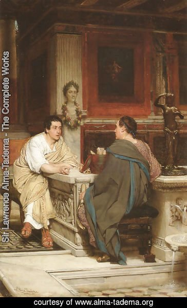 Sir Lawrence Alma-Tadema - The Discourse (or A Chat)