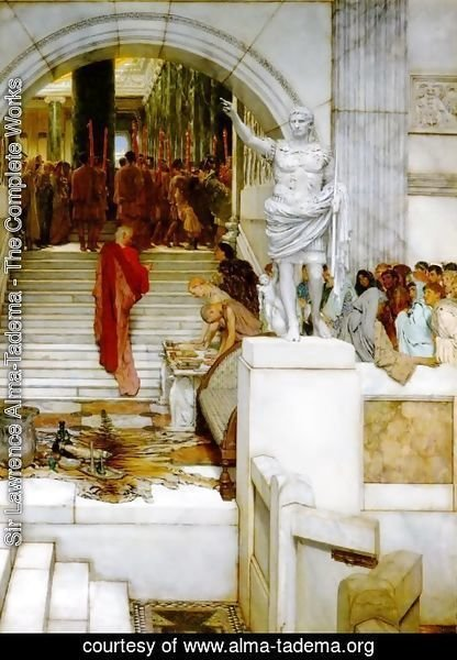 Sir Lawrence Alma-Tadema - After the Audience