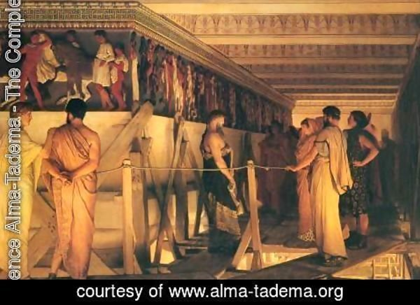 Sir Lawrence Alma-Tadema - Phidias Showing the Frieze of the Parthenon to his Friends