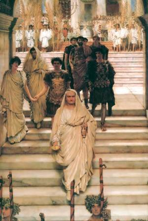 Sir Lawrence Alma-Tadema - The Triumph of Titus