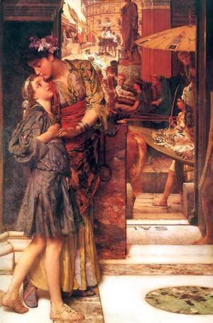 Sir Lawrence Alma-Tadema - The Parting Kiss