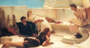 Sir Lawrence Alma-Tadema - A Reading from Homer