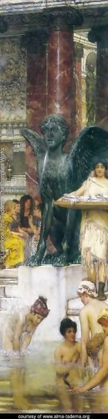 Sir Lawrence Alma-Tadema - A Bath (An Antique Custom)