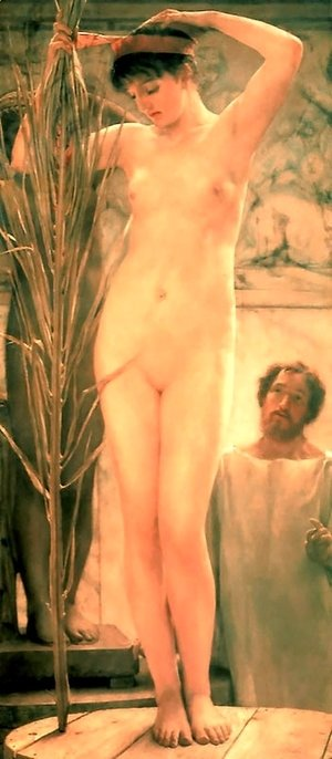 Sir Lawrence Alma-Tadema - A Sculptor's Model (or Venus Esquilina)