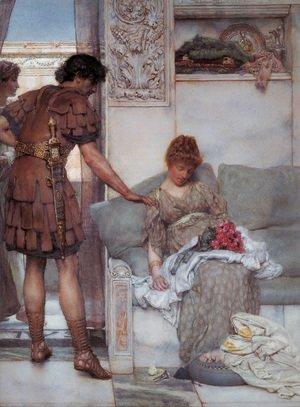 Sir Lawrence Alma-Tadema - A Silent Greeting