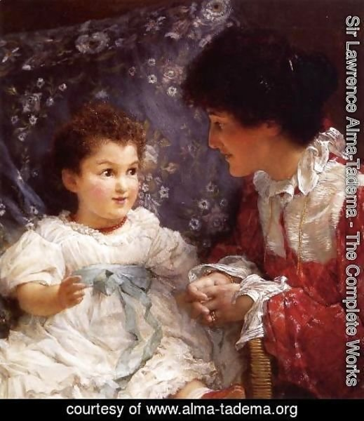 Sir Lawrence Alma-Tadema - Mrs George Lewis and Her Daughter Elizabeth