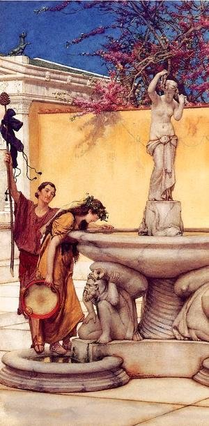 Sir Lawrence Alma-Tadema - Between Venus and Bacchus