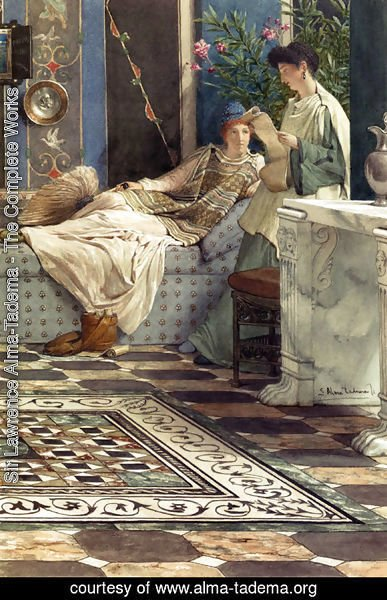 Sir Lawrence Alma-Tadema - From An Absent One