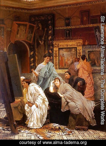 Sir Lawrence Alma-Tadema - A Collection of Pictures at the Time of Augustus