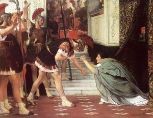 Sir Lawrence Alma-Tadema - Proclaiming Claudius Emperor