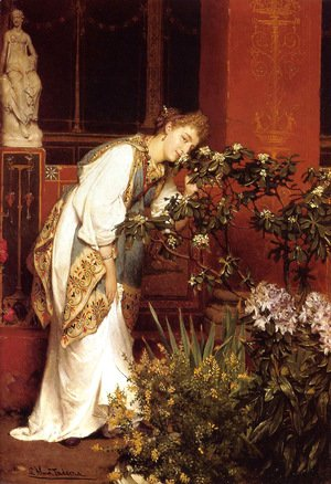 Sir Lawrence Alma-Tadema - In the Peristyle