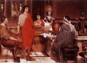 Sir Lawrence Alma-Tadema - Catullus at Lesbia's