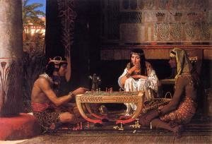 Sir Lawrence Alma-Tadema - Egyptian Chess Players