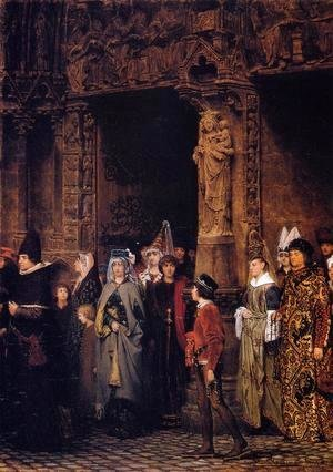 Sir Lawrence Alma-Tadema - Leaving Church in the Fifteenth Century