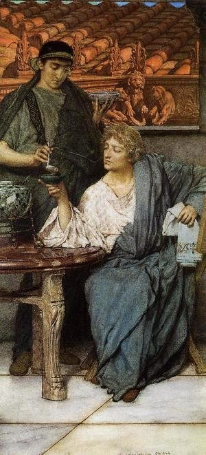 Sir Lawrence Alma-Tadema - The Roman Wine Tasters