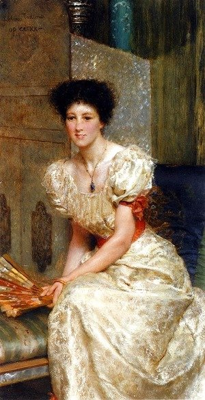 Sir Lawrence Alma-Tadema - Portrait Of Mrs Charles Wyllie