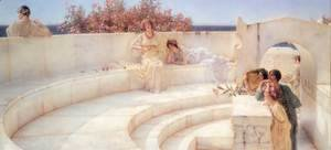 Sir Lawrence Alma-Tadema - Under the Roof of Blue Ionian Weather