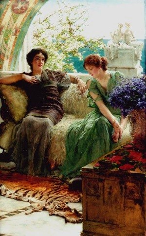 Sir Lawrence Alma-Tadema - Unwelcome Confidences