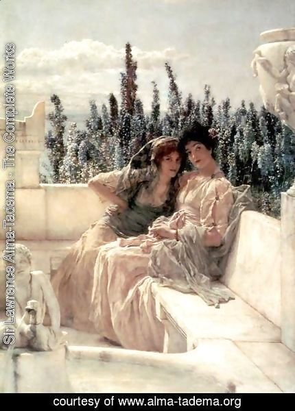 Sir Lawrence Alma-Tadema - Whispering Noon
