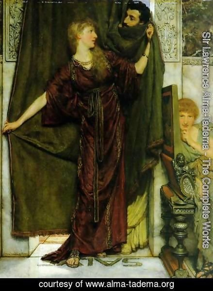 Sir Lawrence Alma-Tadema - Not at Home