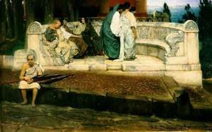 Sir Lawrence Alma-Tadema - An Exedra