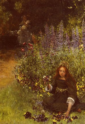 Sir Lawrence Alma-Tadema - Gathering Pansies