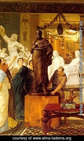 Sir Lawrence Alma-Tadema - A Sculpture Gallery in Rome at the Time of Agrippa