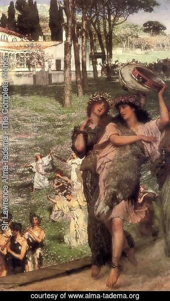 Sir Lawrence Alma-Tadema - On the Road to the Temple of Ceres: A Spring Festival