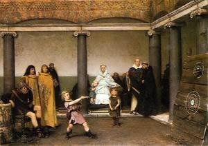 Sir Lawrence Alma-Tadema - The Education of the Children of Clovis I