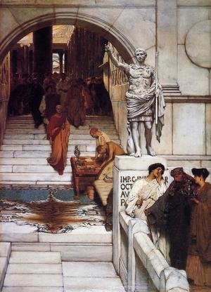 Sir Lawrence Alma-Tadema - An Audience at Agrippa's