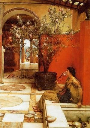 Sir Lawrence Alma-Tadema - An Oleander