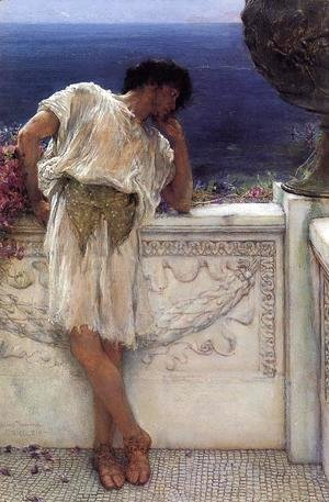 Sir Lawrence Alma-Tadema - The Poet Gallus Dreaming