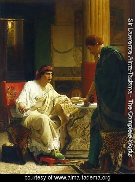 Sir Lawrence Alma-Tadema - Vespasian Hearing from One of His Generals of the Taking of Jerusalem by Titus