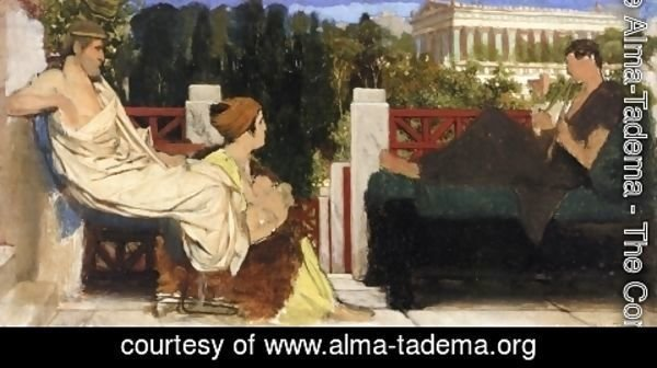 Sir Lawrence Alma-Tadema - Figures on the Terrace by the Acropolis