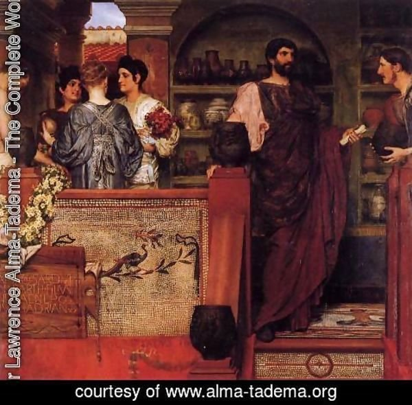 Sir Lawrence Alma-Tadema - Hadrian Visiting a Romano-British Pottery 2