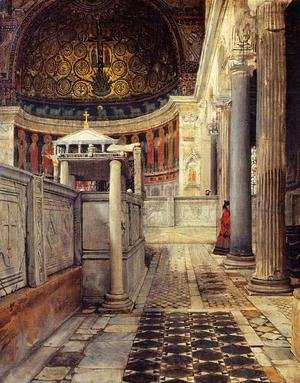 Sir Lawrence Alma-Tadema - Interior of the Church of San Clemente, Rome