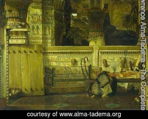 Sir Lawrence Alma-Tadema - Thee Egyptian widow