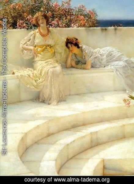 Sir Lawrence Alma-Tadema - Under the Roof of Blue Ionian Weather (detail)