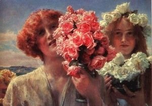 Sir Lawrence Alma-Tadema - Young Girls with Roses