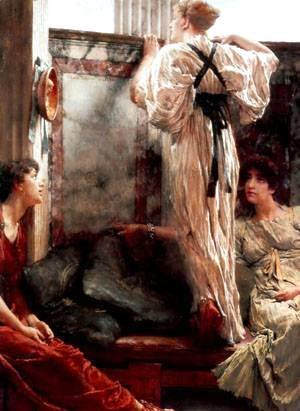 Sir Lawrence Alma-Tadema - A Birth Chamber