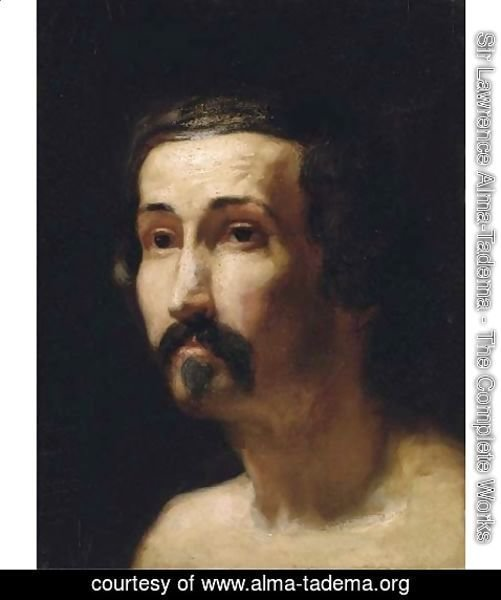 Sir Lawrence Alma-Tadema - Portrait of a gentleman, bust-length 2