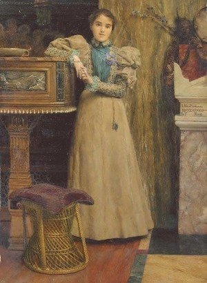Sir Lawrence Alma-Tadema - Portrait of Clothilde Enid, daughter of Edward Onslow Ford