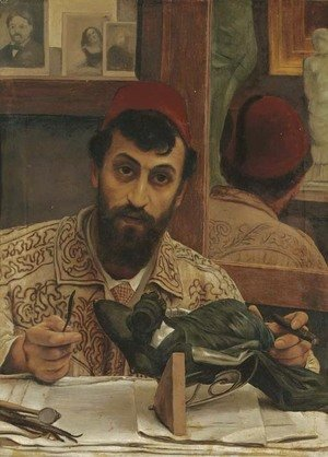 Sir Lawrence Alma-Tadema - Portrait of Professor Giovanni Battista Amendola