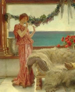Sir Lawrence Alma-Tadema - Melody On A Mediterranean Terrace