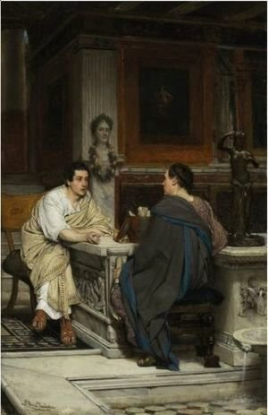 Sir Lawrence Alma-Tadema - The Conversation