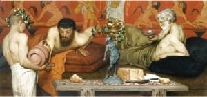 Sir Lawrence Alma-Tadema - Greek Wine