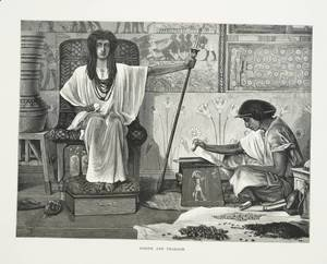 Sir Lawrence Alma-Tadema - Depiction of Joseph reading to the Pharaoh