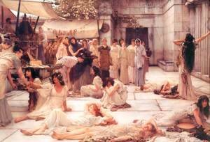 Sir Lawrence Alma-Tadema - The Women Of Amphissa