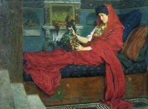 Sir Lawrence Alma-Tadema - Agrippina With The Ashes Of Germanicus